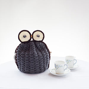 Handmade Crochet Owl Tea Cosy - kitchen accessories