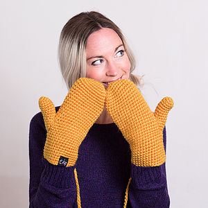 Crochet Wooly Mittens - express gifts for women
