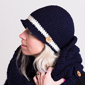 Woolly Knitted Gatsby Hat - hats, scarves & gloves