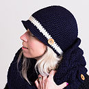 Navy Blue Gatsby Hat