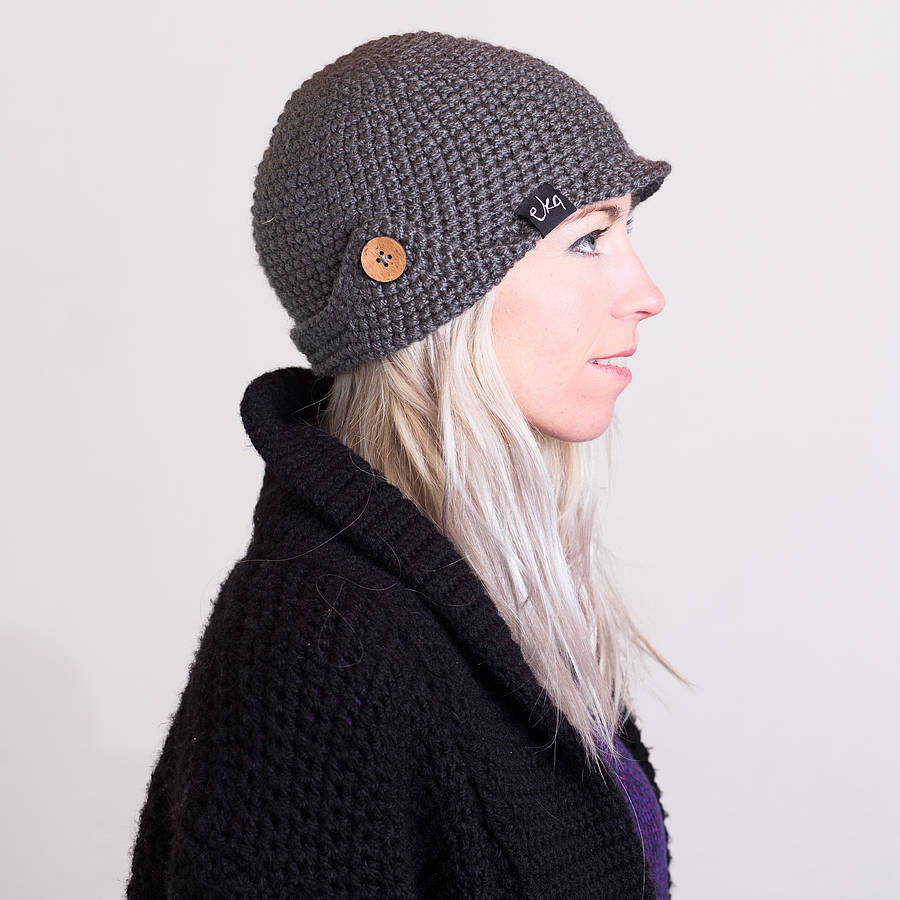 Free Crochet Pattern For Deerstalker Hat : handmade crochet deerstalker hat by eka ...