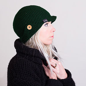 Knitted Deerstalker Hat