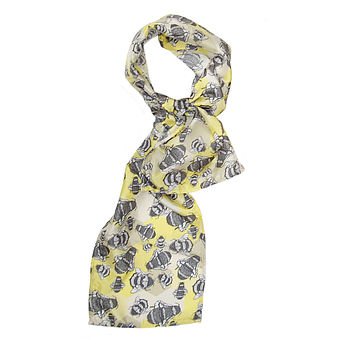 Honey To The Bee Long Silk Scarf