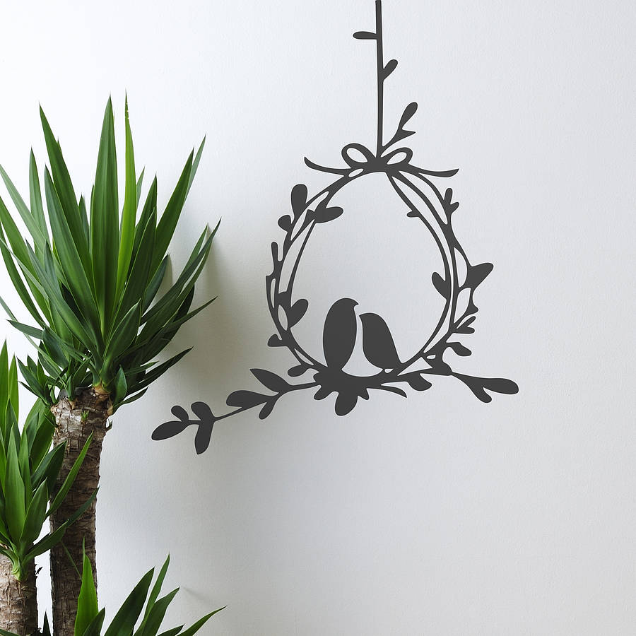 love birds vinyl wall sticker by oakdene designs