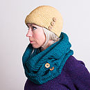 Teal Organic Cotton Scarf