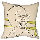 The Odd Couple Cushions Set Lemon Faux Suede Square