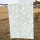 Apple Green Cow Parsley Tea Towel