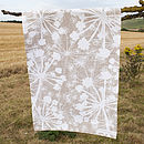 Brown Cow Parsley Tea Towel