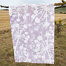 Mauve Cow Parsley Tea Towel