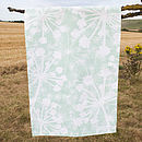 Sea Green Cow Parsley Tea Towel