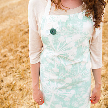 Sea Green Cow Parsley Apron