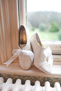 Olivia Leather Brogue Wedding Shoes - bridal shoes