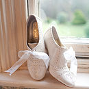 Olivia Leather Brogue Wedding Shoes