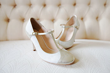Emily Suede T Bar Wedding Shoes