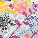 Quirky Floral Stems Tea Towel Detail