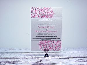Hydrangea Letterpress Wedding Invitation - invitations