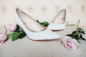 Chloe Lace Kitten Heel Shoes - wedding fashion