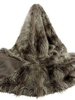 Faux Fur Large Throw