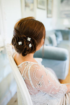 Pearl Beaded Hairpins