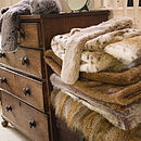 Faux Fur Large Throw