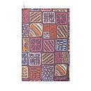 Doodle Squares Tea Towel