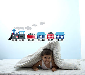 Train Wall Stickers - bedroom