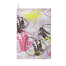 Organic Retro Leaves Tea Towel