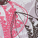Organic Retro Leaves Tea Towel Detail