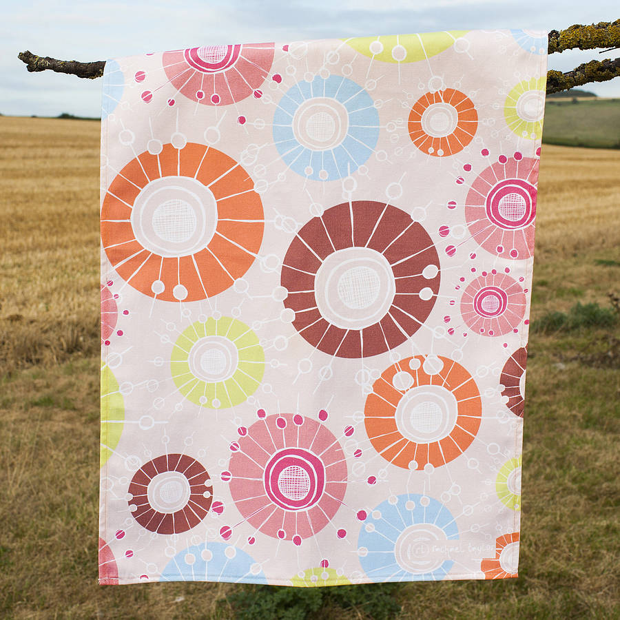 Retro Field Tea Towel