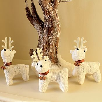 Knitted Deer Decoration