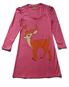 Stag Jersey Dress - t-shirts, tops & tunics