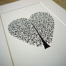Tree Of Life Heart Print
