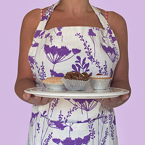 Plum Cow Parsley Design Apron - baking