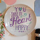 Happy Heart Decorative Plate