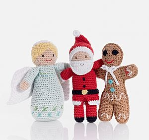 Christmas Crochet Character Toy - toys & games