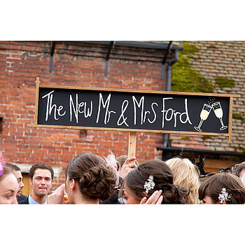 Hand Painted Personalised Wedding Prop Sign