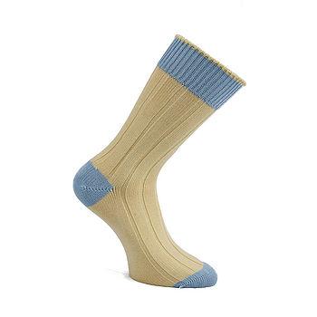 George Horace Chunky Heel & Toe Cotton Socks