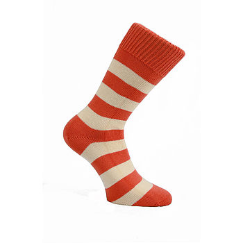 Brentwood Chunky Striped Cotton Socks