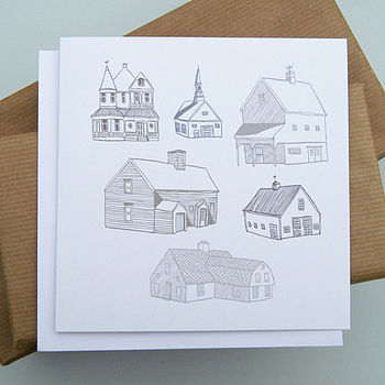 New England Houses Card