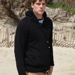 Men's Hand Knitted Hoodie - jumpers & cardigans