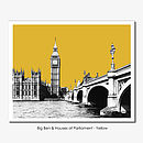 Big Ben And Westminster Limited Edition Prints
