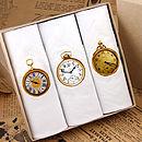 Box Of Three Men's Clock Hankies