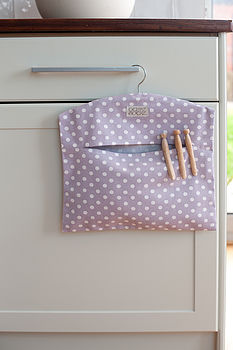 Lavender Polka Dot Peg Bag