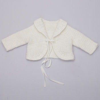 Hope Christening Cardigan (Ivory)
