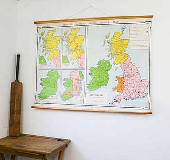 Vintage Map British Isles