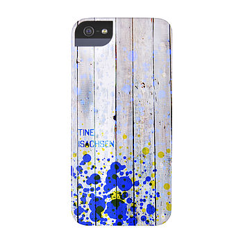 Personalised Splash Wood Case For iPhone