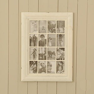 Cream Wooden Multi Frame - picture frames
