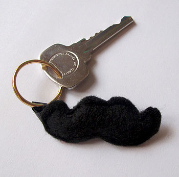 Make Your Own Moustache Keyring Sewing Kit