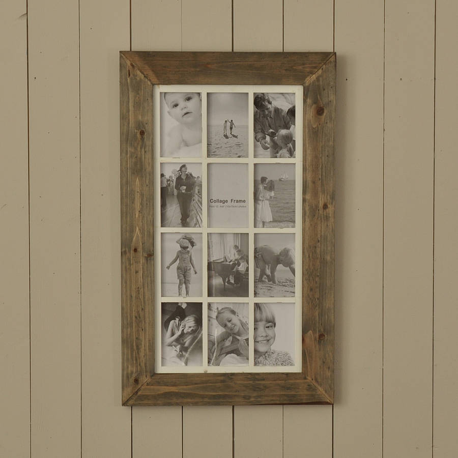 washed pine and cream multi frame