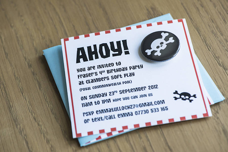 pirate party invitations by twenty seven